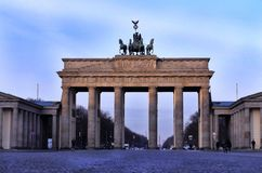 Statue of the Brandenburg Gate royalty free stock photos