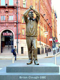 Statue of Brian Clough , Nottingham. Royalty Free Stock Photos