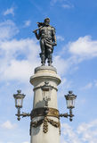 Statue on the bridge Djurgarden Royalty Free Stock Images