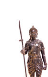 Statue. Bronze fighters  in thailand Royalty Free Stock Photo