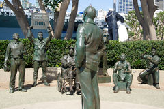 Statue bronzee di un saluto nazionale a Bob Hope Fotografia Stock Libera da Diritti