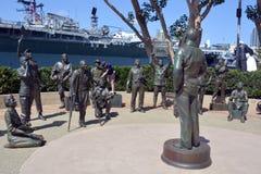 : Statue bronzee di un saluto nazionale a Bob Hope ed ai militari Immagine Stock Libera da Diritti