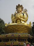 SWAYAMBHUNATH STUPA Gold Statue of Buddah Stock Images