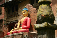 Statue Buddha. In a Nepalese temple Stock Photos