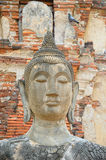 Statue of Buddha. Closeup of statue of Buddha near ruins of  Ayutthaya, ancient capital of Thailand Stock Photos