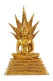 Statue of Buddha. Image of golden Buddha statue on white background Royalty Free Stock Image