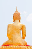 Statue of Buddha. Golden Buddha statue at the back, Thailand Stock Photography