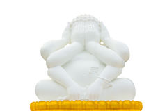 Statue buddha. Buddha with hands covering eyes and hands covering ears and Catch Leg Royalty Free Stock Image