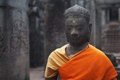 Statue of a Buddha in Angkor Wat. Royalty Free Stock Photos