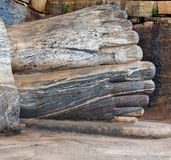 Statue Buddha attained nirvana Royalty Free Stock Images
