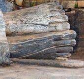 Statue Buddha attained nirvana. Gal Vihara of Polonnaruwa, Sri Lanka Royalty Free Stock Images