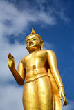 Statue buddha on blue sky background Stock Photo