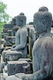 Statue of the Buddha at Borobudur , Indonesia Stock Images