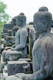 Statue of the Buddha at Borobudur , Indonesia Stock Images