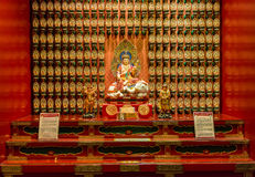 The statue of Buddha in Chinese Buddha Tooth Relic Temple Stock Photo