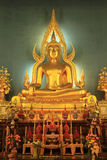 Statue of a Buddha in church Stock Photography