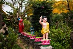 Statue of Buddha in Dalat, Vietnam Stock Image