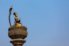 Statue with Buddha in Durbar Square,Lalitpur city, in Kathmandu Stock Photography