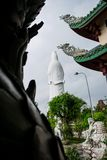 The statue of buddha ( goddess of mercy - Quan Am ) in Linh Ung Pagoda, Da Nang, Vietnam Royalty Free Stock Photos