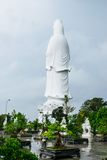 The statue of buddha ( goddess of mercy - Quan Am ) in Linh Ung Pagoda, Da Nang, Vietnam Royalty Free Stock Photography