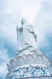 The statue of buddha ( goddess of mercy - Quan Am ) in Linh Ung Pagoda, Da Nang, Vietnam Stock Photos