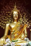 Statue of buddha. Head of statue of buddha in temple Royalty Free Stock Photo