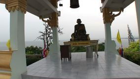 Statue of Buddha on the hill stock video