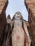 Statue of the Buddha with his hand Stock Image