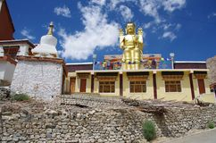 Buddha in Likir monastery in Ladakh, India Royalty Free Stock Photography