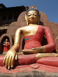 Statue of Buddha located at Swayambhunath Stock Photography