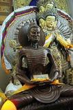 Statue Of Buddha Meditating, Dalai Lama Temple, McLeodganj, India. Gautama Buddha meditating before attaining enlightenment. Statue at His Holiness Dalai Lama Royalty Free Stock Photography