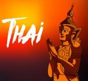 Statue Buddha meditation in Nirvana, Thai style,  pic Royalty Free Stock Photos