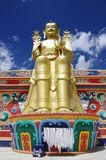 Statue of Buddha in Likir monastery in Ladakh, India Stock Images