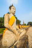 Statue. Buddha statue in mongkol temple at ayutthaya province (Thailand Stock Images