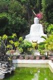 Statue of Buddha near to Pagoda on the marble mountain Da Nang, Stock Photos