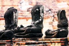 The statue buddha no head Stock Photography