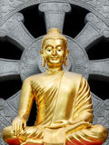 Statue buddha. One Statue buddha gold color Royalty Free Stock Photo