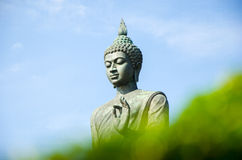 Statue of Buddha at peace Stock Photo