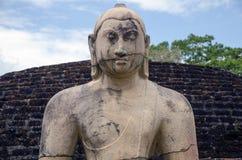 A statue of Buddha. Polonaruwa Royalty Free Stock Photography