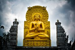 Statue of Buddha statue in Wat Sariang royalty free stock photography