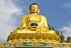 Statue of Buddha. Buddha statue at Swyambhunath, Kathmandu,Nepal stock photos