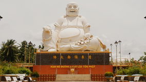 Statue of the Buddha. Temple of the Buddha. Vietnam. stock video footage