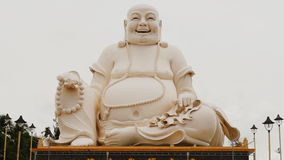 Statue of the Buddha. Temple of the Buddha. Vietnam. stock footage