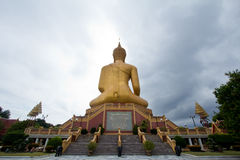 Statue of Buddha in Thailand. Statue of Buddha in wat pikulthong, singburi, Thailand royalty free stock images