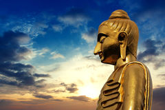 Statue of Buddha on Twilight Stock Photography