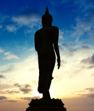 Statue of Buddha on Twilight Royalty Free Stock Photography