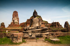 Statue of Buddha at Wat Mahatat. Ayutthaya Thailand Stock Images