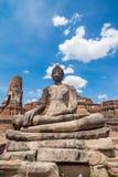 Statue of Buddha at Wat Mahatat. Ayutthaya Thailand Royalty Free Stock Photo