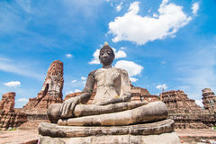 Statue of Buddha at Wat Mahatat. Ayutthaya Thailand Stock Image