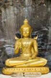 Statue of Buddha at Wat Phra Phutthachai. Saraburi, Thailand royalty free stock photo